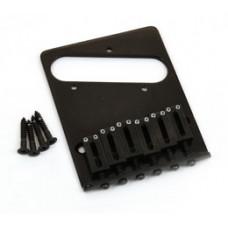 TB-0030-003 High Mass Black Gotoh Bridge for Fender Telecaster - Modern 6-Saddle