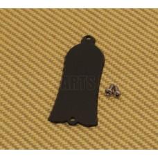TC-BS1 1-Ply Black Bell-Shaped Guitar/Bass Truss Rod Cover w/Screws