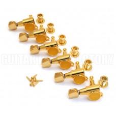 TK-0760-L02 Gotoh Lefty Gold Sealed Guitar Tuners