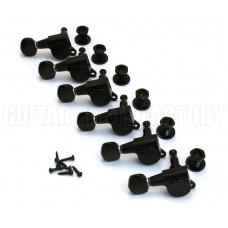 TK-0760-L03 Gotoh Lefty Black Sealed Guitar Tuners