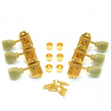 TK-0770-002 Gotoh Guitar Tuning Keys 3X3 Set in Gold SD90 Vintage Style 15:1