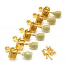 TK-0884-002 Gold Gotoh 6 Inline Vintage Keystone Tuner For Tele /Strat Guitar