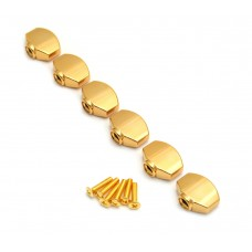 TK-7714-002 (6) Gold Buttons for Gotoh Mini Sealed Guitar Tuners