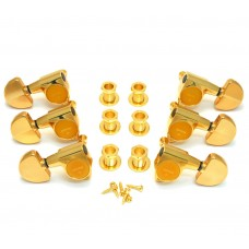 TK-7740-002  Gotoh Gold Sealed 3x3 Full Size 18:1 Ratio Guitar Tuners