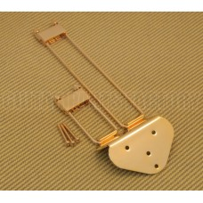 TP-0433-002 Gold Frequensator Style Trapeze Tailpiece