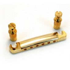 TP-3445-002 Economy/Metric Gold Stop Tailpiece & Studs for Import Guitar