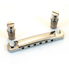 TP-3445-010 Economy/Metric Chrome Stop Tailpiece & Studs for Import Guitar