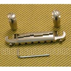 TP-BM116-N Les Paul Junior Nickel Wrap-Around Guitar Bridge Stop Tailpiece w/ Studs