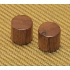 WBRK-W (2) Walnut Wood Barrel Knobs