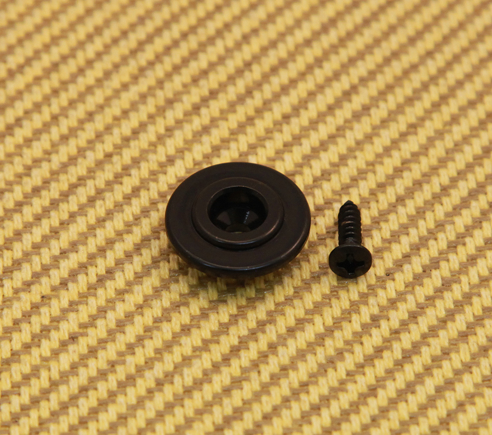 BLACK TALL SLOTTED ROUND STRING TREE GUIDE FOR FENDER PRECISION JAZZ BASS *NEW*