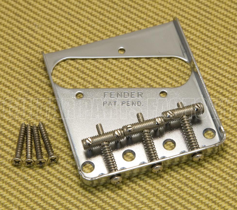Fender 005-6069-000 American Vintage 62 Tele Custom Bridge Assembly with Pickup Nickel