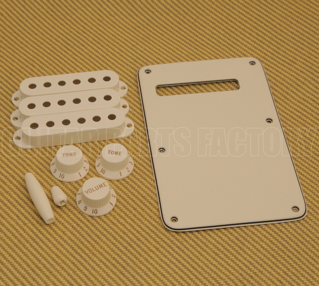 Fender USA Parchment Accessory Kit For STRAT Stratocaster 0991395000