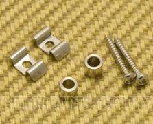 2 Chrome Metal Roller String Guides//Trees for Strat//Tele® Guitar MRSG-C