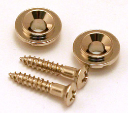 2 Chrome Vintage Style Round Guitar String Guides//Trees for Tele® AP-0730-010