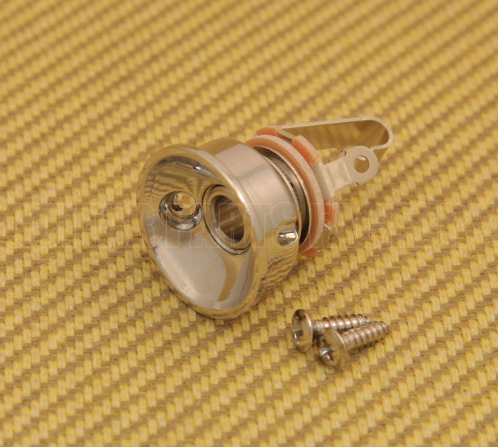 Nickel Socket Style Jack Plate w//Jack for Telecaster//Tele® JP-SOCK-N