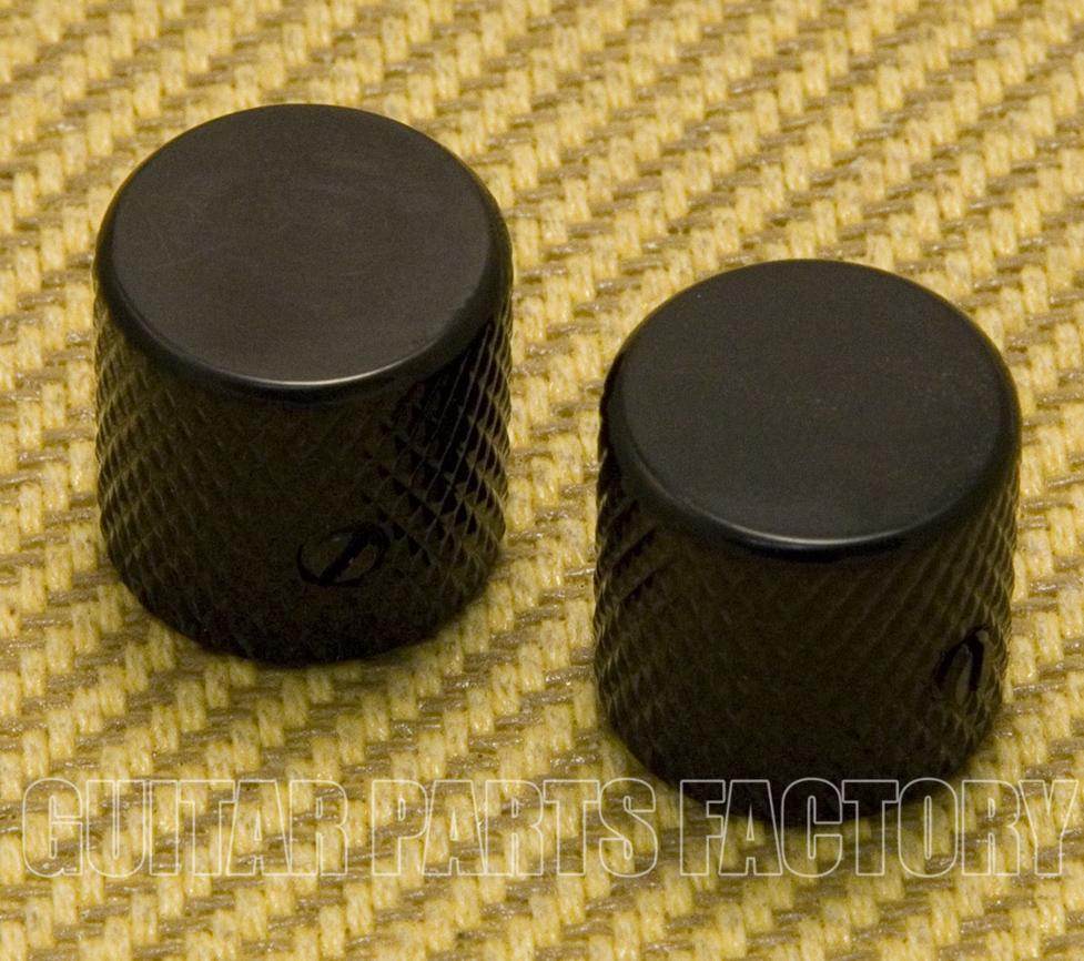 Set of 2 WOOD Dome Barrel Guitar KNOBS EBONY
