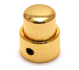 Gold Mid Size Stacked Guitar//Bass Knob for 6mm//8mm Shaft MK-MDSTK-G 1