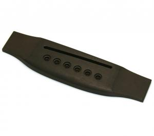 GB-0850-0E0 Ebony Acoustic Guitar Bridge Slightly Oversized