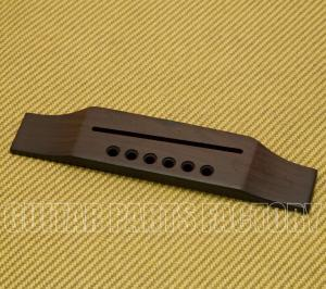 GB-0859-0R0 Rosewood Reverse Gibson Style Belly Up Acoustic Guitar Bridge