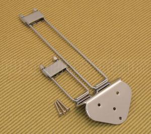 TP-0433-010 Chrome Frequensator Style Trapeze Tailpiece For Archtop Guitar