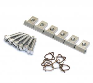 BP-0305-010 Allparts Pre-2001 Chrome Nashville Saddles for Gibson® Nashville bridge