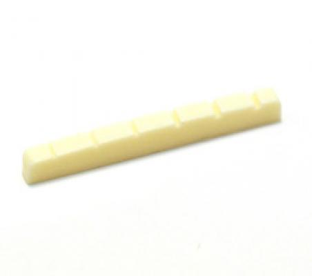 ECO-NUT-FC Slotted Cream Plastic Nut for Fender