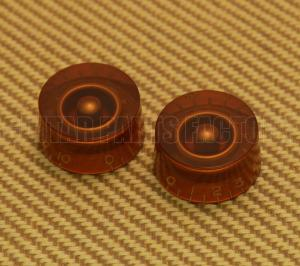 PK-0130-022 (2) Amber Speed Knobs for USA Guitars