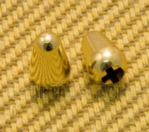 SK-0710-002 (2) Gold Plastic Switch Tips for Strat Guitar