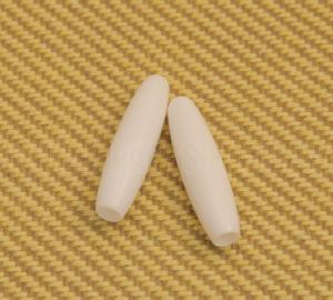 PK-0148-025 White Tremolo Tips Press Fit for USA Strat