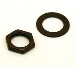 EP-0654-003 Black Nut & Dress Washer for Switchcraft Jacks