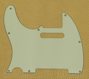 PG-0562-L24 Lefty Mint 3-Ply Tele Pickguard 8-Hole No Pickup Mounts