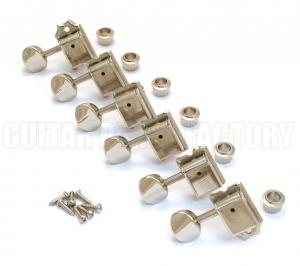 099-2040-002 Genuine Fender Lefty Left-Handed Vintage Nickel Tuners 0992040002