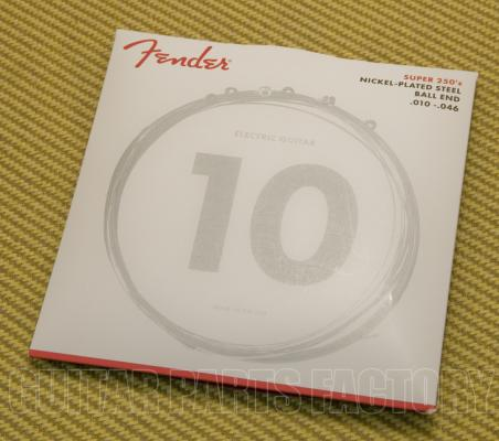 073-0250-406 Fender Super 250s / 250R Nickel .010-.046 Standard Tension Guitar Strings 0730250406