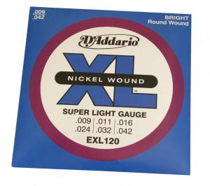 EXL120 D'Addario XL Series Electric Guitar Strings .009-.042