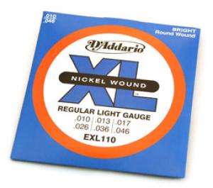 EXL110 D'Addario Electric Guitar Strings 10-46 Light Set