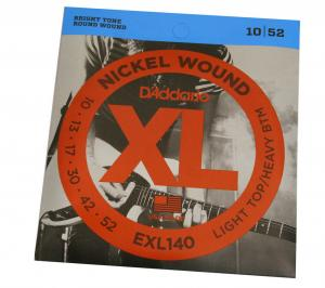 EXL140 D'Addario Nickel Wound Light Top/Heavy Bottom Guitar Strings 10-52