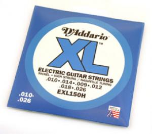 D'ADDARIO HIGH STRUNG NASHVILLE ELECTRIC GUITAR STRINGS