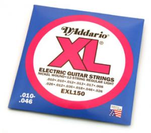D'ADDARIO 12-STRING XL ELECTRIC GUITAR STRINGS