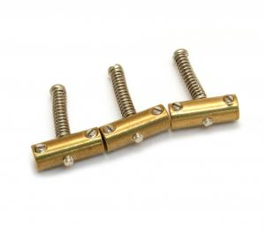 BP-2328-008 Compensated brass bridge saddles for vintage tele