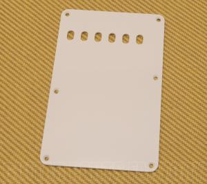 099-1320-000 Genuine Fender 1-ply White Back Plate Vintage Stratocaster 6-Hole 0991320000