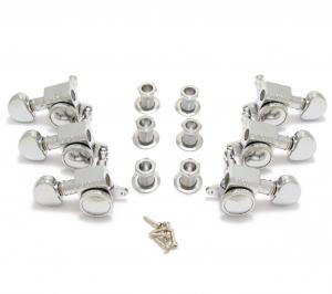 505C Grover Roto-Grip 3+3 Mini Chrome Locking Guitar Tuners
