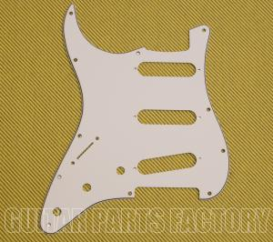 002-6077-002 Pickguard Stratocaster S/S/S Left Hand 11-Hole White 3-Ply 0026077002