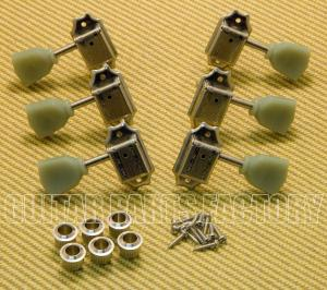WJ-44-3N Wilkinson 3x3 Nickel Vintage Tuners for Les Paul SG Gibson Epiphone