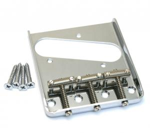 TB-0020-010 Chrome Vintage Threaded 3-saddle Bridge for Fender Telecaster/Tele®