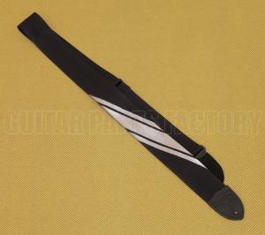 099-0608-001 Fender Competition Black/Silver Guitar/Bass Strap 0990608001