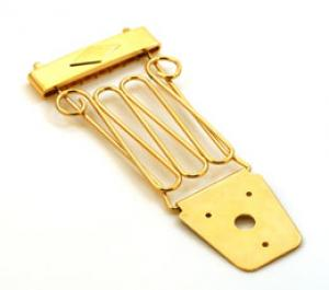 TP-0432-002 Gold Delux Trapeze Tailpiece for Thick Archtop Guitar