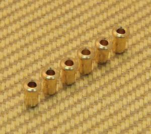 BTSF-4-G (6) Gold Custom Guitar Body Top String Ferrules