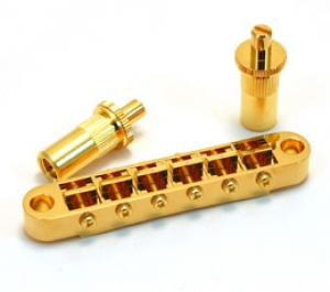 GB-0525-002 Gotoh Gold Big Hole Tune-O-Matic Style Guitar Bridge