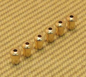BTSF-5-G (6) Custom 5mm Gold Body Top String Ferrules
