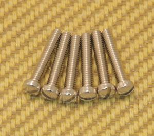 GS-5453-001 Set of 6 Nickel USA Humbucker Guitar Pickup Pole Piece Screws